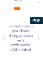 Criterios Eliminacion Lenguaje Sexista