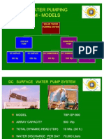 Selection Guide for Tata BP Solar Range Water Pumping_system