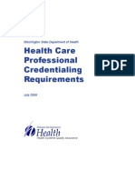 State of WA Requirements for Dental Licensure