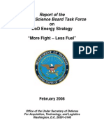DoD Report on Energy Use
