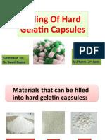 Filling of Hard Gelatin Capsules-Simranjit