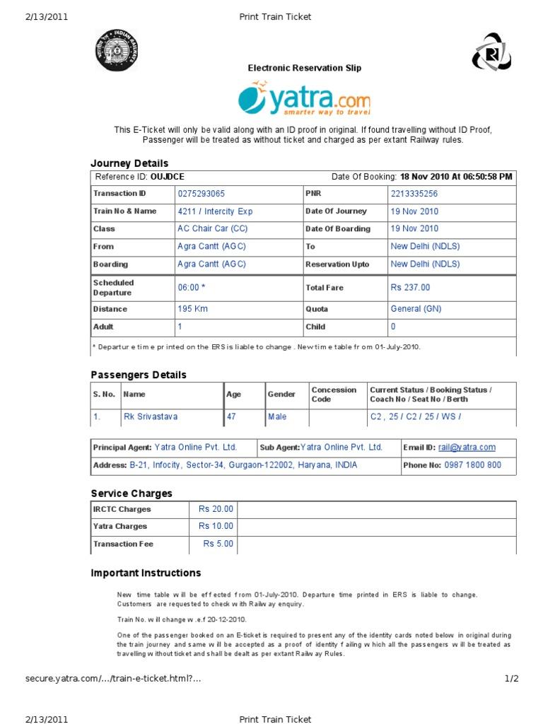 Edit Print Train Ticket Identity Document Ticket