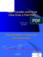 Heat Transfer and Fluid Flow Over a Plate