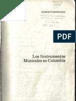 Egberto Bermudez - Los Instrumentos Musicales en Colombia 1985
