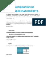 DISTRIBUCION DE PROBABILIDAD DISCRETA