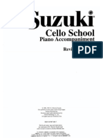 VIOLONCELO - MÉTODO - Suzuki Cello School - Volume 01 - Acomp. Piano