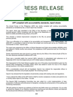 DND-OPA - Press Release - AFP Compliant With Accountability Standards as Per Report - 28 April 2011