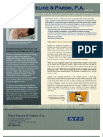 Wild Felice and Pardo, Estate Planning and Asset Protection Newsletter, July 2010