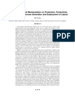 Impact of Agricultural Mechanization on Production, Productivity,
