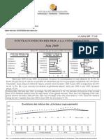 Indices des prix à la consommation - Juin 2009 (INSTAT - 2009)