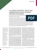 Microbiota Restoration