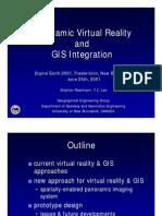 Panoramic Virtual Reality and GIS Integration