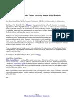 White Digital Media Promotes Former Marketing Analyst Ashley Koons to Marketing Coordinator