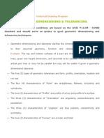GEOMETRIC DIMENSIONING & TOLERANCING