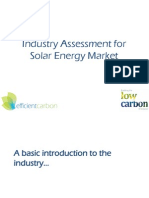 Solar Energy Industry Assessment