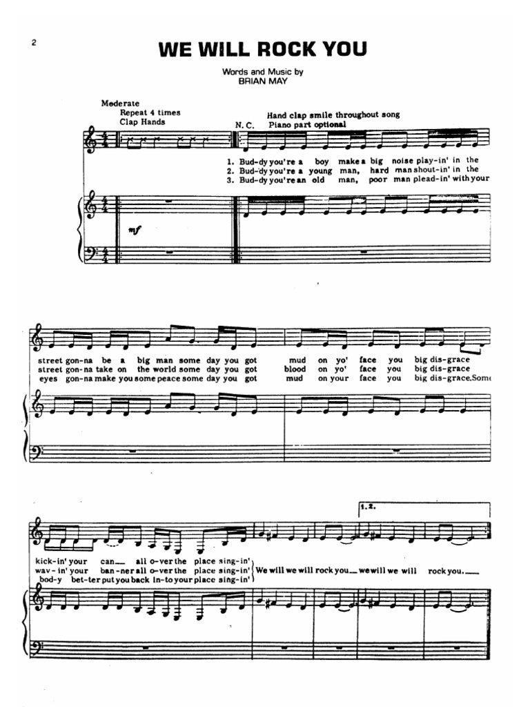 Sheet Music - Piano) Queen Hits Songbook (22 Songs)