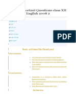 CBSE Important Questions Class XII English 2008 2