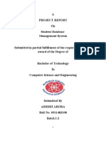 Project Report on Student