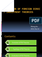 6 Evolution of FDI Theories