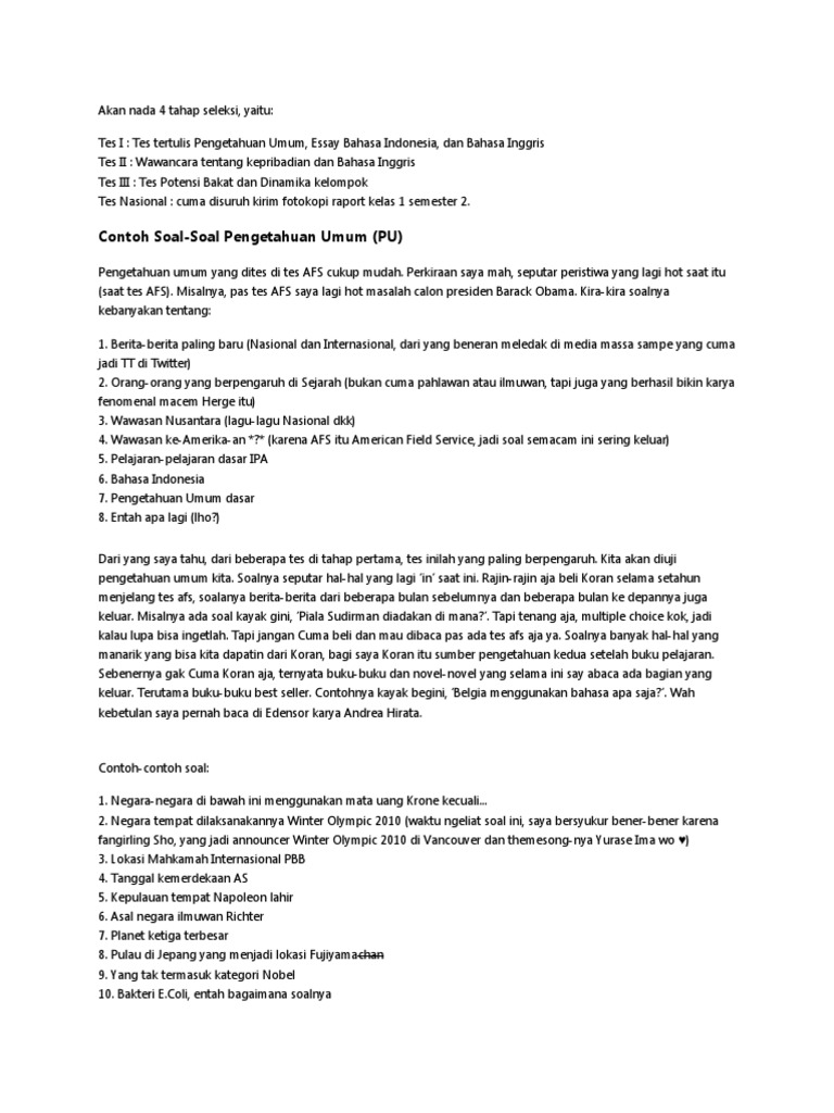 contoh soal essay bahasa inggris  contoh lengkap contoh essay bahasa inggris