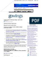 Mondaq - Construction Insurance - On-Risk E-Bulletin @ Gowlings - Gowling Lafleur Henderson LLP, Canada (19!04!2011)