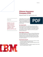 Chinese Insurance Company (CIC) - Integrated customer view improves sales, service