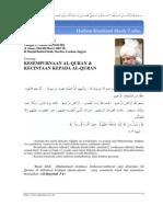 Khutbah Jum'at 2005-03-04 (Kesempurnaan Alquran & Kecintaan Kepada Alquran)
