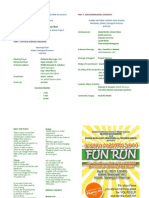 Earth Month 2011 Fun Run -Programme