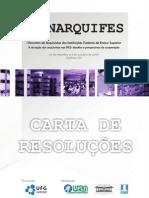 Carta de Resoluções do I Encontro de Arquivistas das IFES