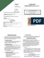 Formation Reboutement I Et II Lorier 2011