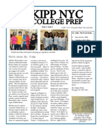 KIPP NYC CP April Newsletter (Spanish)