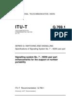 t Rec q.769.1 Isup for Mnp