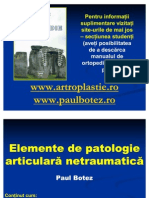 Elemente de Patologie Articular A Netraumatica