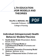 Health Education Behavior Models and Theories_ppt