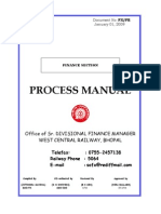 Railway Accounts  Process Manuals