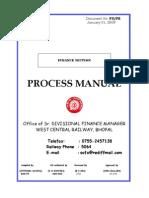 Railway Accounts  Process Manuals