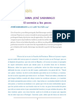 """J. SARAMAGO """"El sermón de los peces"""" (EL PAÍS)"""