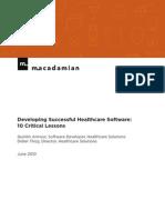 Macadamian_10HealthcareSoftwareLessons
