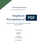 Employee Perception of BPR