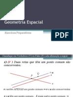 Revisao de Geometria Espacial