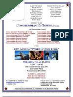 "28th Annual ""Taste of New York"" for Edolphus (Ed) Towns"