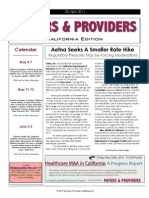 Payers & Providers California Edition – Issue of April 28, 2011