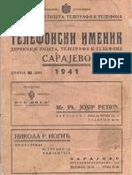 Sarajevo Phone Book 1941