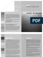 Secure Human Right Water