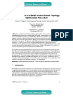 Development Beta Function Based Topology Optimization 2008