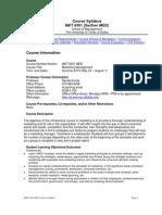 UT Dallas Syllabus for mkt6301.med.11u taught by Nanda Kumar (nkumar)