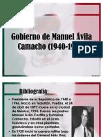 Gobierno de Manuel Ávila Camacho (1940-1946)