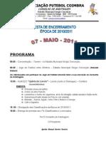 Folheto Festa Encerramento 2010-2011