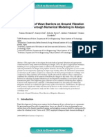 Evaluation of Wave Barriers on Ground Vibration Reduction through Numerical Modeling in Abaqus