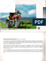 BMW R1100 Riders Manual